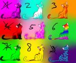 Cat Adoptables 5 Points OPEN by Milchwoman