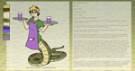 Personal Character Ref and Bio, Phil the naga by The-Clockwork-Crow