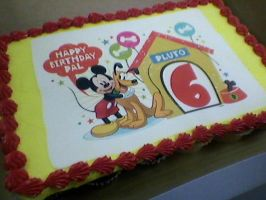 Work: Photo Cake Mickey by Bake-a-saur