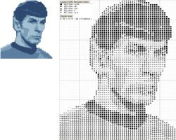 Mr. Spock Cross Stitch Pattern by black-lupin