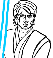 Anakin Lineart by Chrisily