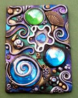Crazy Daisy Polymer Clay ACEO by MandarinMoon