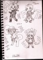 Chibi sketches by 8DarkAngel8