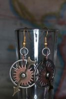 Gears and Time Steampunk Earrings by LadySashaviv
