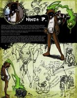 Ninja P: Character Design by DG-ART85