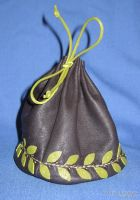 Pouch with olive leaves by scargeear