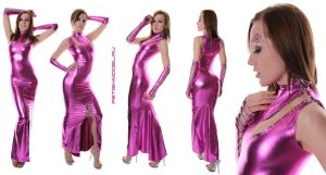 Fuchsia Metallic Spandex Dress by agnadeviphotographer