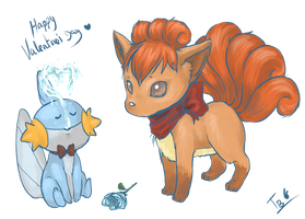 Mudkip and Vulpix Valentine by Tachi--Baka