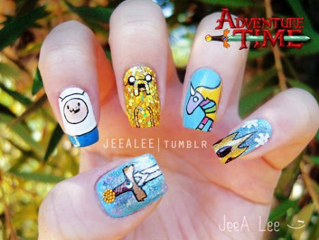 Adventure Time Nails by jeealee