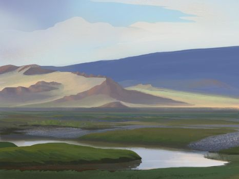 Photostudy of Mongolian steppe by michielvdheuvel