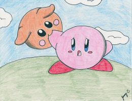 Kirby and Scarfy by Jenime39