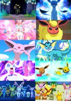 Eevee and Friends Collage by Jack-a-Lynn