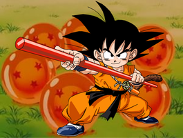 Goku and his Power Pole by eggmanrules