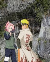 NaruSaku at the fourth ninja war 2 by Bleach-Fairy
