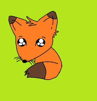 cute lil fox. ^_^ by spencershot5