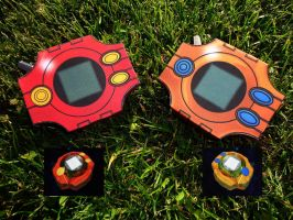 [Digimon] Sora and Tais Digivice - Papercraft by Mixowelle