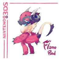 [HANDYMONSTERS] 3DS Flame Red by Yeale