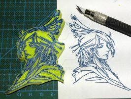Emperor of the Night rubber stamp by XluciferXX