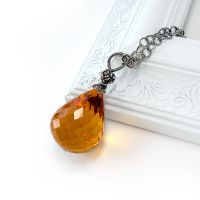 Citrine Rose Pendant by Gweyeni