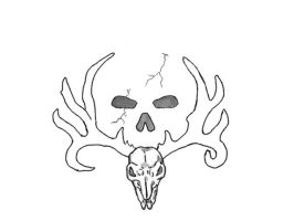 bone collector logo by Sevenslashes