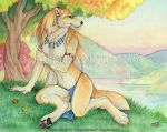 Autumn Lake by Goldenwolf
