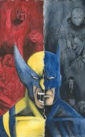 batman vs. wolverine cover by michaelflorentin