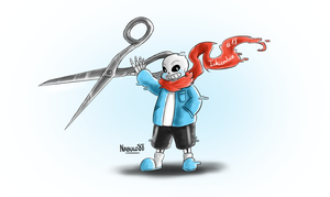 Inkcember 18 - Travel!Sans by Nabuco88