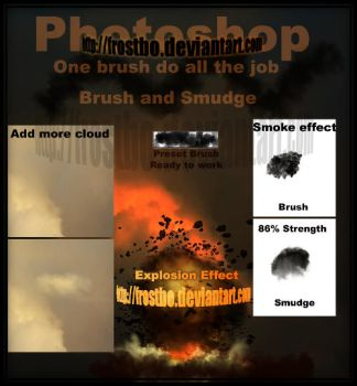 Smoke and cloud in ONE BRUSH by FrostBo