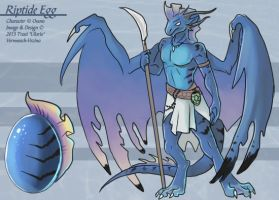Riptide Egg (Hatched Adoptable) by Ulario