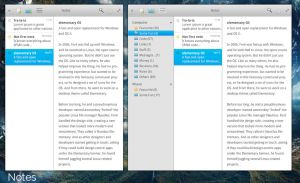 elementary OS Notes app mockup version 2 by 13iangel