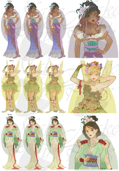 WIP3-Disney Mucha Patterns (Hannah-Alexander) SET2 by pinkythepink