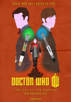 Doctor Who: 50th Anniversary - Minimalist Poster by Stormy94