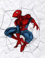 20 minute Spider-man sktech by ParisAlleyne