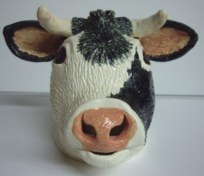 Cow Facejug by Fourpawpotter