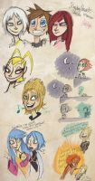 Kingdom Hearts Doodles by Alias-Hugo