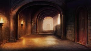 Pottermore Background - Dueling Hall by xxtayce