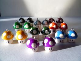 Fan Art Nintendo Mario Brothers Mushroom Army by skatemaster007