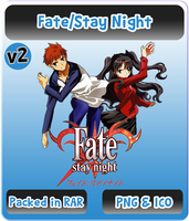Fate/Stay Night v2 - Anime Icon by Rizmannf