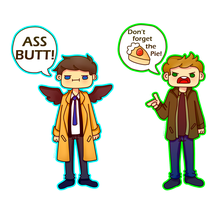 Cas and Dean by M0nzteer