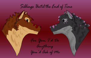 Siblings Until The End of Time by WyldWerewolf