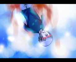 ..when blue turns to red.. by Ayumi-Itoe