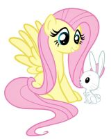 Fluttershy and Angel bunny by pinkcupcake17