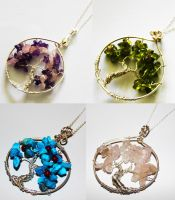Tree of Life Pendants by BumbleBeeFairy