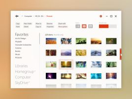 Windows UI Concept: Explorer 4 by kgbstyle