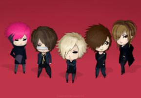 Chibi GazettE Vortex by sixfragments