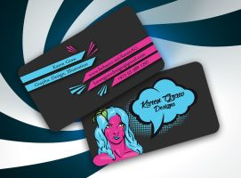 Karen Graw Business Card Design 2 by Avalonis
