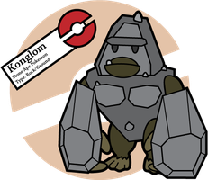 Fake Pokemon: Konglom by Sageroot