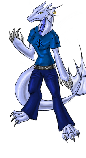 DreadnoughtDT's Character Water_Dragon_Anthro__for_Pr0st_by_Slifer