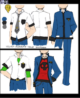 Velvet Academy Male Uniforms by CrystalStarSpirit
