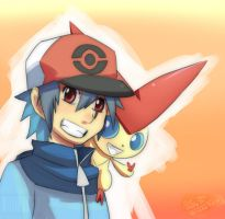 V for Victini and K for Kazuo by GalletoconK
